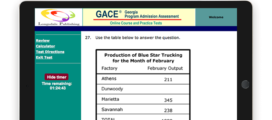 GACE test question