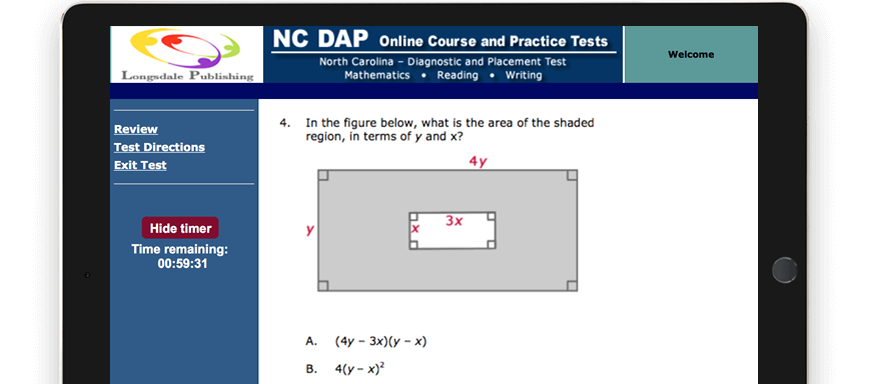 NC DAP test question