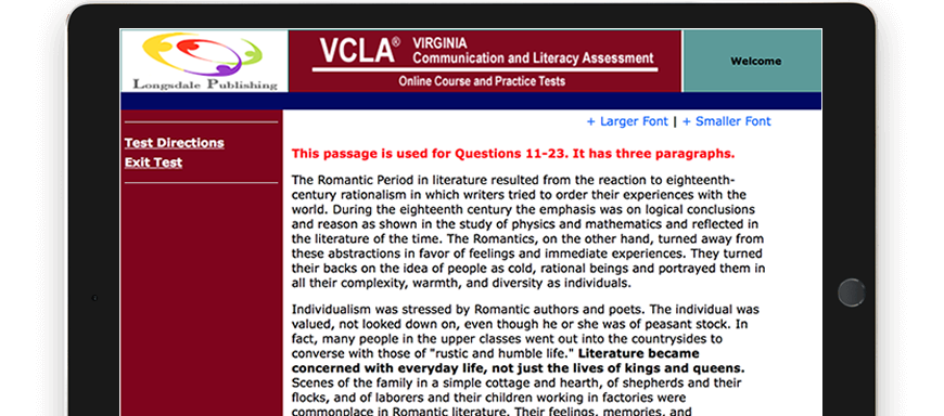 VCLA test question