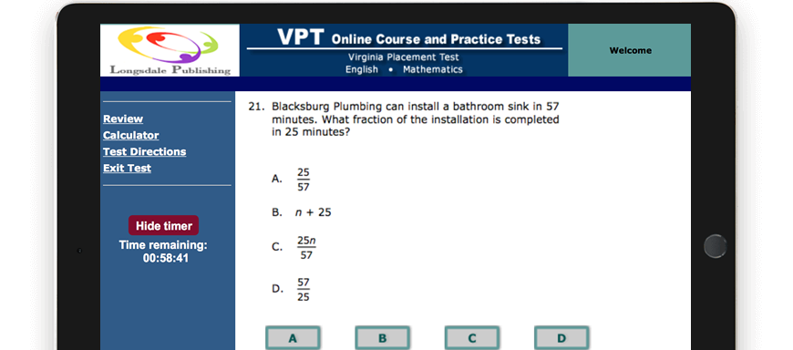 VPT test question